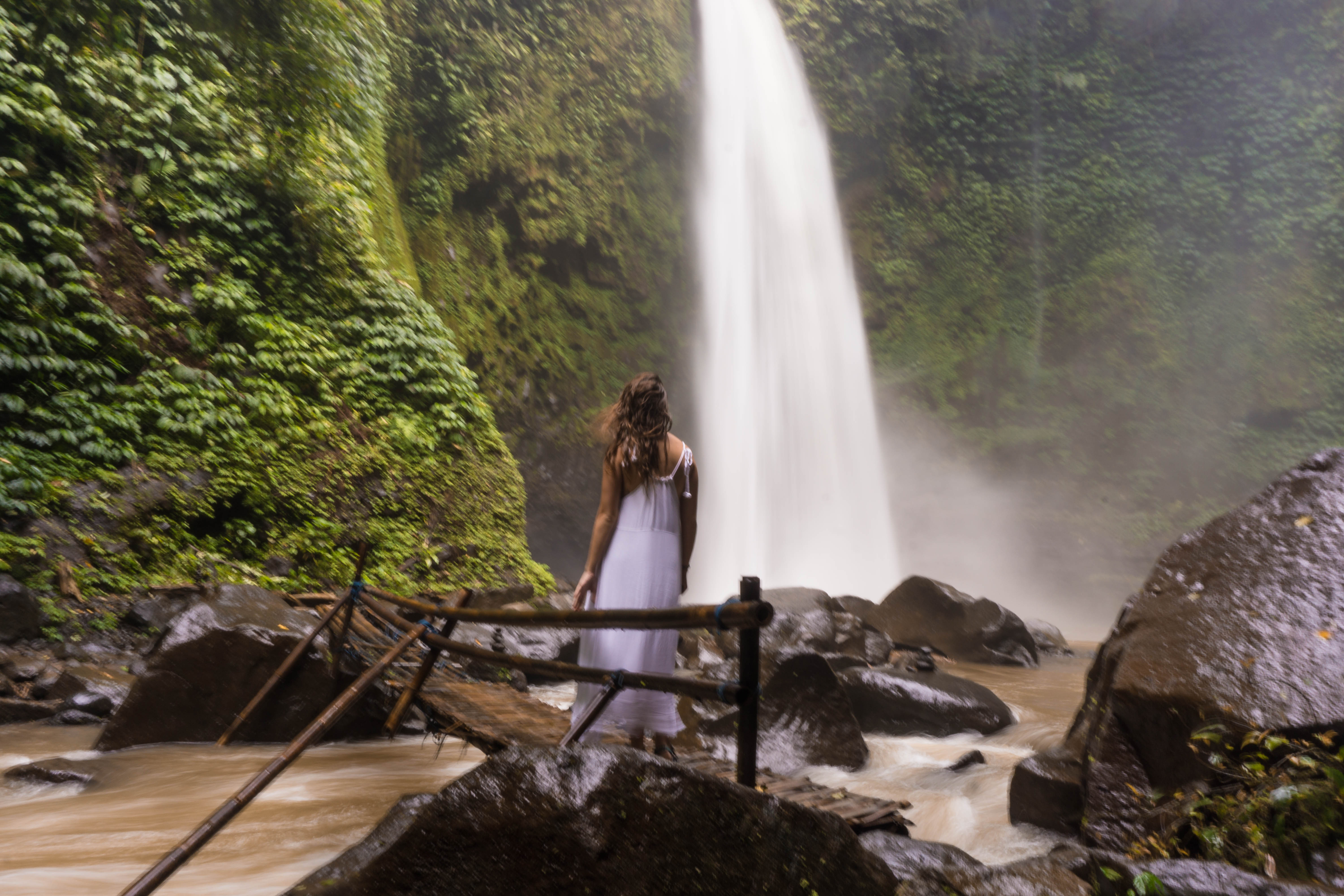 Visiting Nungnung Waterfall in Bali